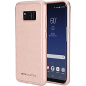 Saffiano Phone Cover without Pocket for Galaxy S8 - Rose Gold
