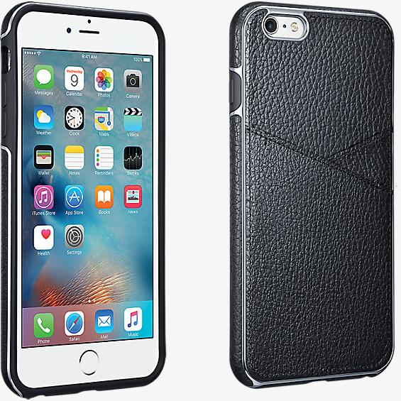 Leather Wallet Case for iPhone 6 Plus/6s Plus - Black