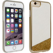 Milk and Honey White with Gold Glitter Cover for iPhone 6/6s