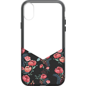 Suit Up Print case for iPhone X - Black Floral