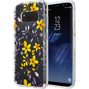 Multi Floral Clear Case for Galaxy S8 - Purple/Yellow