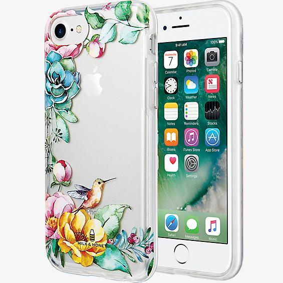 Placed Floral Clear Case for iPhone 7/6s/6