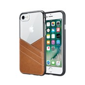 Leather Pocket Clear Case for iPhone 7