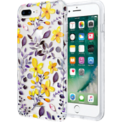 Multi Floral Clear Case for iPhone 7 Plus/6s Plus/6 Plus - Purple/Yellow
