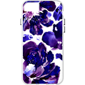 Purple Flower pattern Clear Case for iPhone 6/6s/7