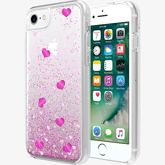 Valentine's Day Hearts Liquid Case for iPhone 7/6s/6