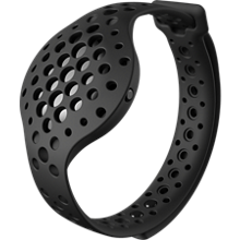 NOW 3D Fitness Tracker and Real Time Audio Coach - Black