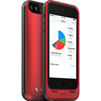 mophie space pack for iPhone 5/5s - 32GB Red