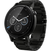 Moto 360 2nd Gen for Men 46mm - Black Metal