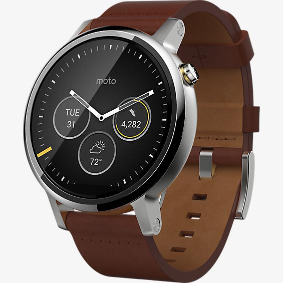 Moto 360 2nd Gen for Men 46mm - Leather