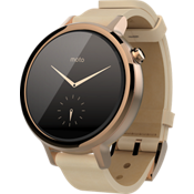Moto 360 2nd Gen for Women 42mm - Rose Gold with Blush Leather