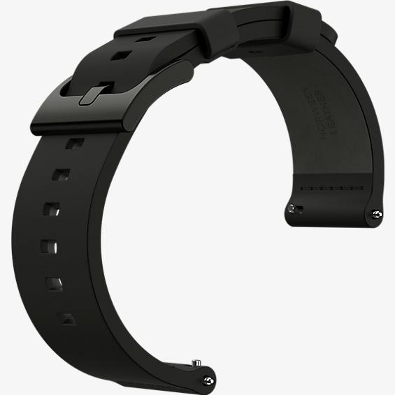 Watch Band for Moto 360 2nd Gen for Men 46mm - Black Leather