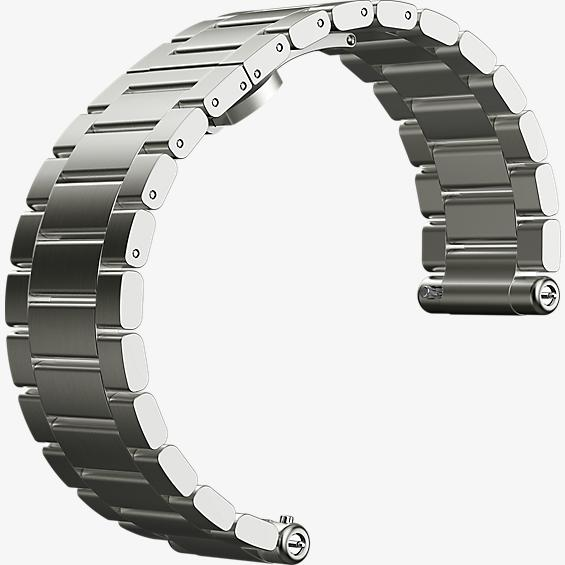 Watch Band for Moto 360 2nd Gen for Men 46mm - Silver Metal