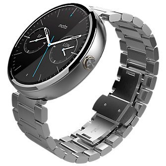 Moto 360 Smartwatch (metal band, metal slim band, leather ban) $100