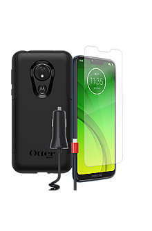 promo code 3a995 44fe3 OtterBox Commuter Case, Protection and Car Charging Bundle for moto g7 power