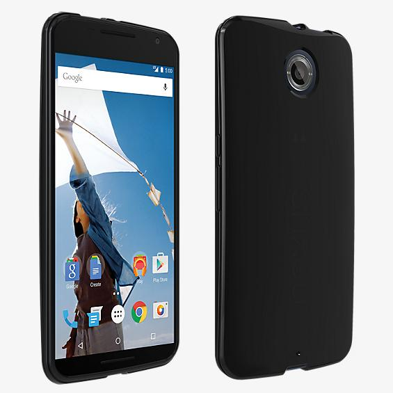 High Gloss Silicone Cover for Nexus 6 - Black
