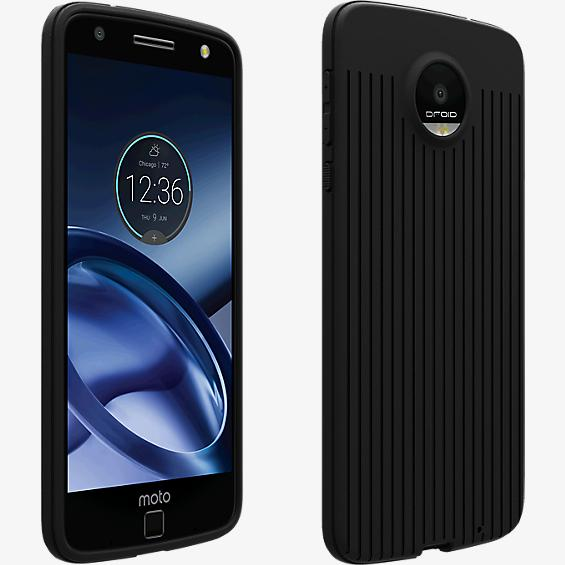 Matte Silicone Case for Moto Z Force Droid - Black
