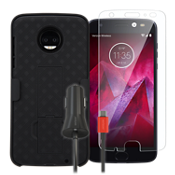 Shell/Holster Bundle for Moto Z2 Force Edition