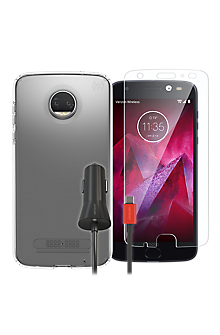 pretty nice b1eac b61c4 Speck Presidio Clear Case Bundle for Moto Z2 Force Edition