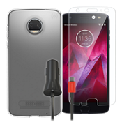 Speck Presidio Clear Case Bundle for Moto Z2 Force Edition