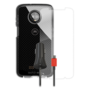 Evo Check Case, Protection and Car Charging Bundle for Moto Z3