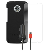 Otterbox Commuter Case, Protection and Car Charging Bundle for Moto Z3