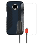 Speck Presido Grip, Protection and Car Charging Bundle for Moto Z3