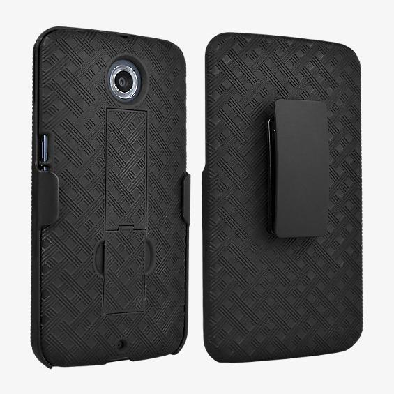 Shell Holster Combo with Kickstand for Nexus 6