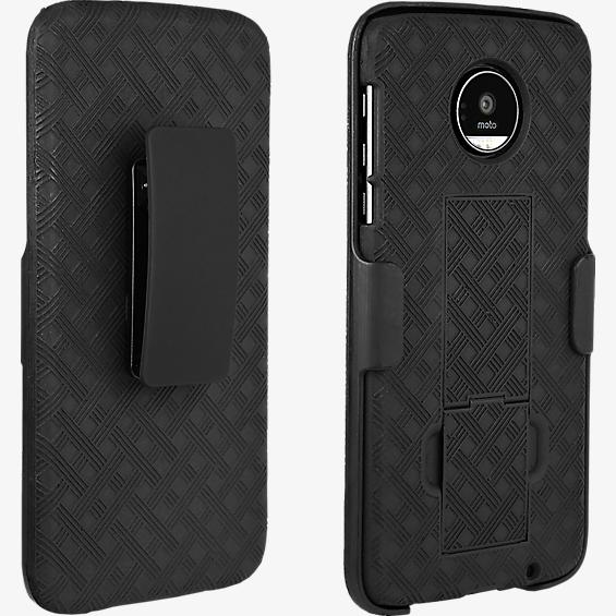 Shell Holster Combo for Moto Z Droid - Black