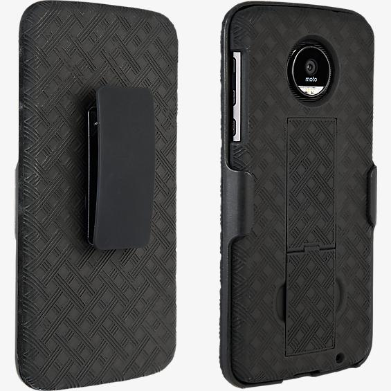Shell Holster Combo for Moto Z Force Droid - Black