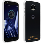 Two-Tone Bumper Case for Moto Z Play Droid - Clear