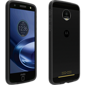 Two-Tone Bumper for Moto Z Force Droid - Black / Gray
