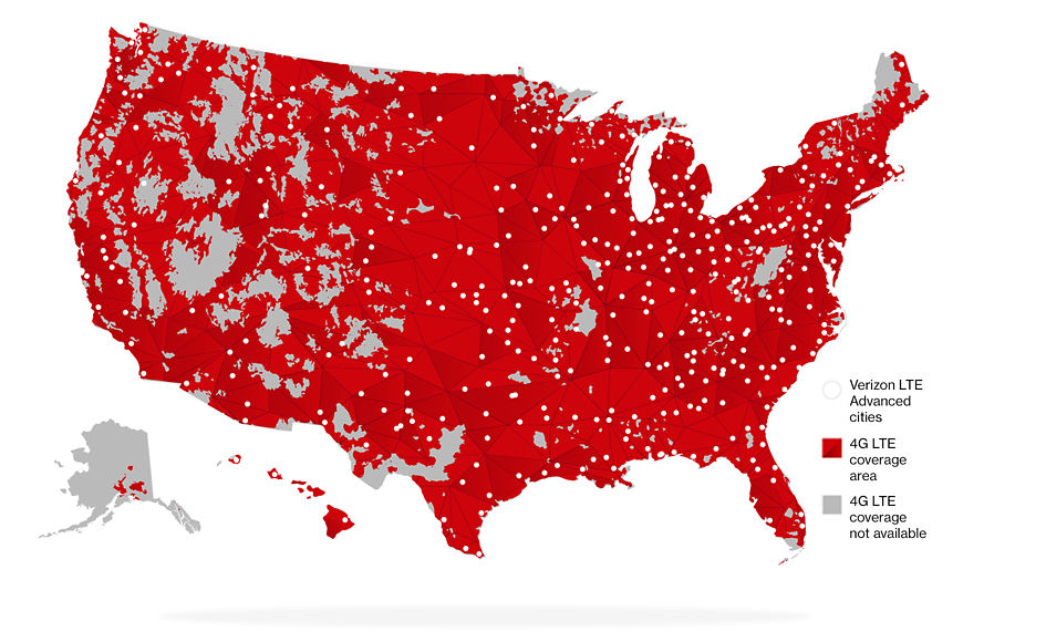 Better Matters Verizon Wireless - T mobile us coverage map