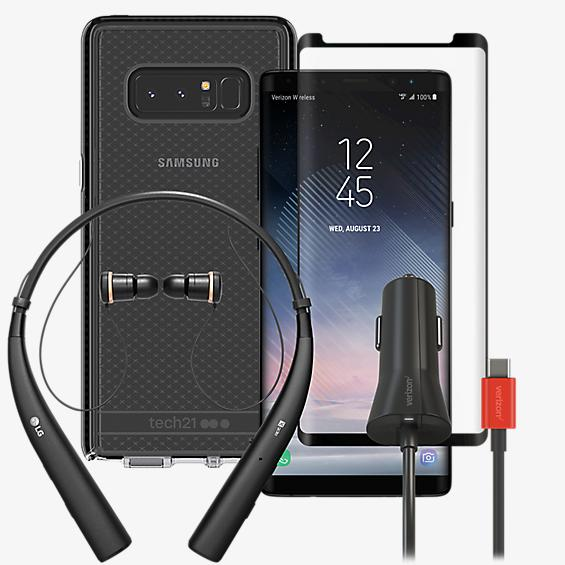Tech21 Evo Power, Protection, & Headset Bundle for Galaxy Note8