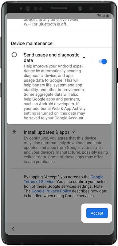 Samsung Galaxy Note9 setup guide