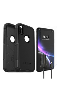 wholesale dealer 516f0 a87b4 Otterbox Commuter Case, Protection & Car Charging Bundle for iPhone XR