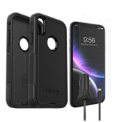 OtterBox Commuter Case, Protection & Car Charging Bundle for iPhone XR