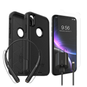 OtterBox Commuter Case, Protection & Charging Bundle with Headset for iPhone XR