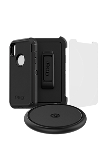promo code 618ff f838a OtterBox Defender Case, Protection with VisionGuard and Wireless Charging  Bundle for iPhone XS/X