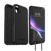 Otterbox Symmetry Case, Protection & Car Charging Bundle for iPhone XR