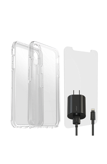 low priced b1647 49c62 Otterbox Symmetry Clear Case, Protection & Charging Bundle for iPhone XS Max