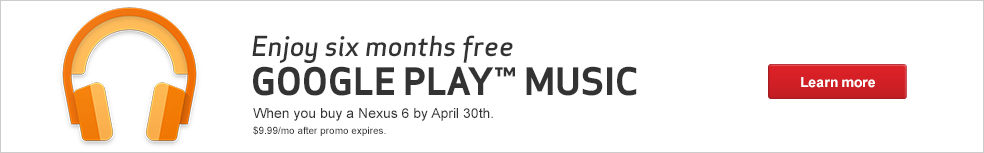 Enjoy 6 Months Free of Google Play Music