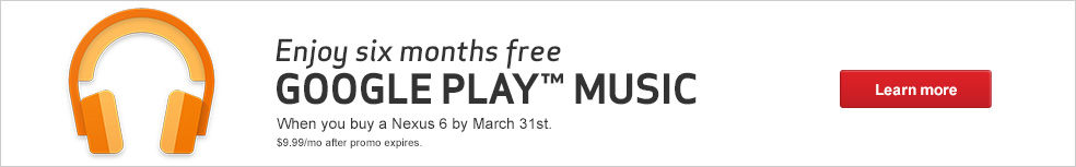 Enjoy 6 Months Free of Google Play Music