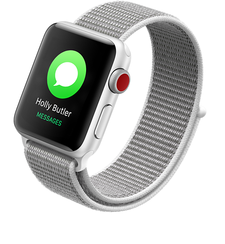 new style e68ae f1396 Apple® Watch Series 3 Aluminum 42mm Case with Sport Loop