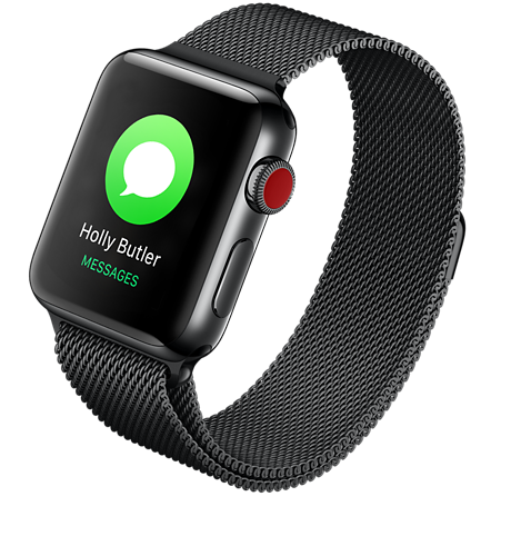 new product bd6c4 3b283 Apple® Watch Series 3 Stainless Steel 38mm Case with Milanese Loop