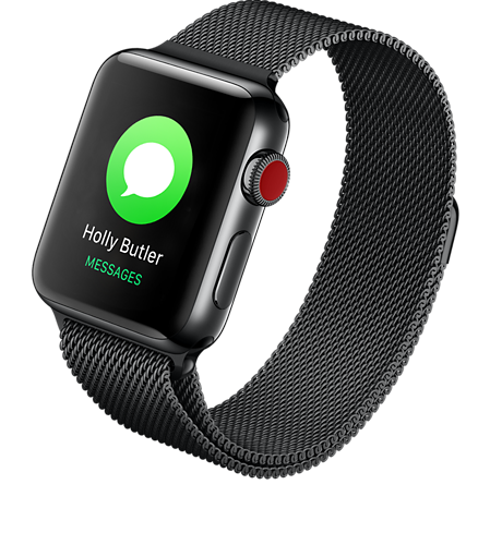 promo code fe1de b67c4 Apple® Watch Series 3 Stainless Steel 42mm Case with Milanese Loop
