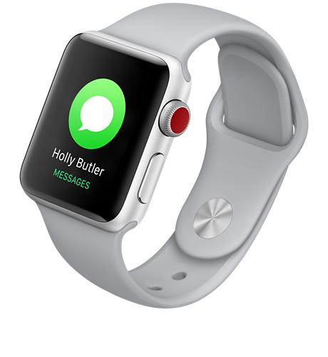 0374e41acf6 Apple Apple® Watch Series 3 Aluminum 38mm Case with Sport Band Stay  connected away from