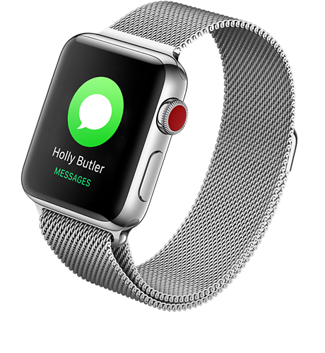 c43a0e56a Apple Apple® Watch Series 3 Stainless Steel 42mm Case with Milanese Loop  Stay connected away