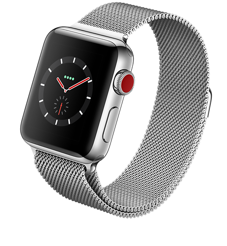 promo code ae76f ab147 Apple® Watch Series 3 Stainless Steel 42mm Case with Milanese Loop