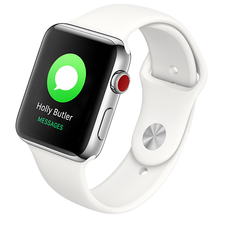 535f5a95031d Apple Apple® Watch Series 3 Stainless Steel 42mm Case with Sport Band Stay  connected away